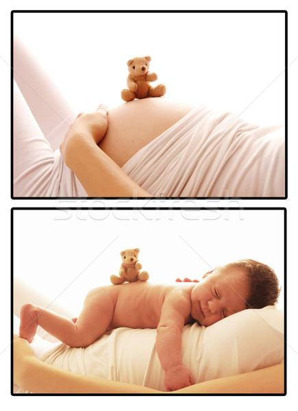 Jeden mały baby kobieta w ciąży brzuch Zdjęcia stock © koca777