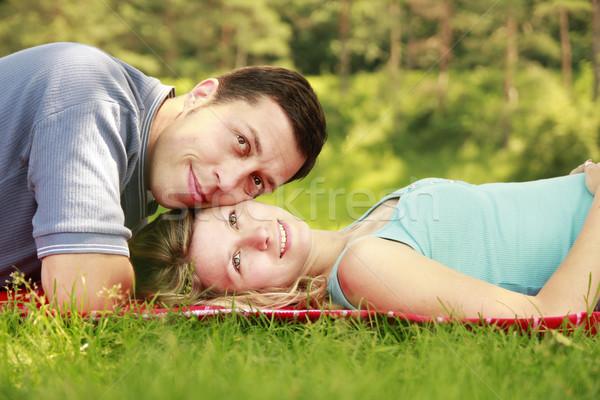 молодые красивой пару любви улице женщины Сток-фото © koca777