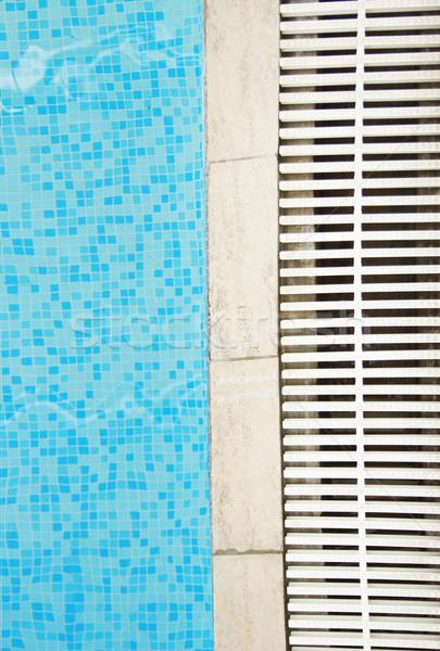 Egy kék víz medence egészség sportok Stock fotó © koca777