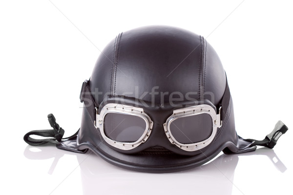 Stock photo: US army style motorcycle helmet
