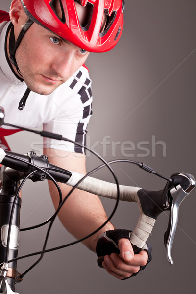cyclist on a bicycle Stock photo © kokimk