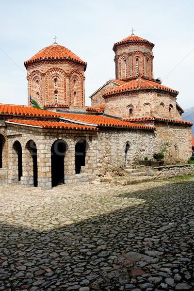 Kerk Macedonië meer bouw engel Rood Stockfoto © kokimk