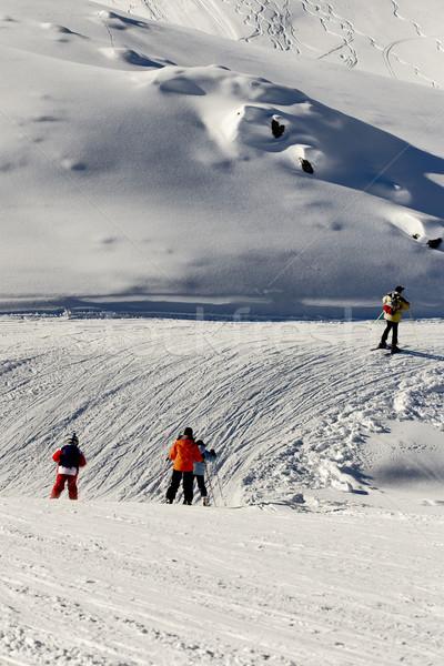 Kayak Makedonya spor manzara dağ Stok fotoğraf © kokimk