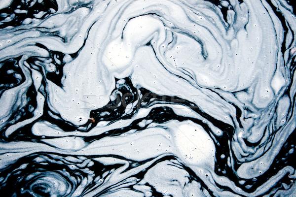 Víz hab érdekes minták absztrakt textúra Stock fotó © kokimk