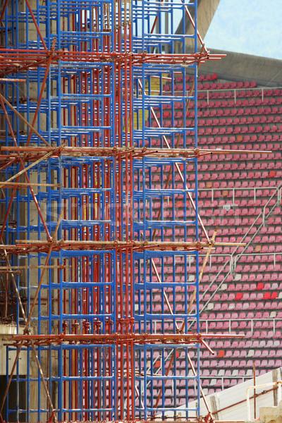 şehir Makedonya Bina spor soyut dünya Stok fotoğraf © kokimk