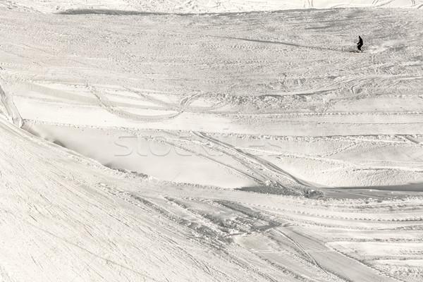 Kayakçı siluet soyut Kayak spor manzara Stok fotoğraf © kokimk