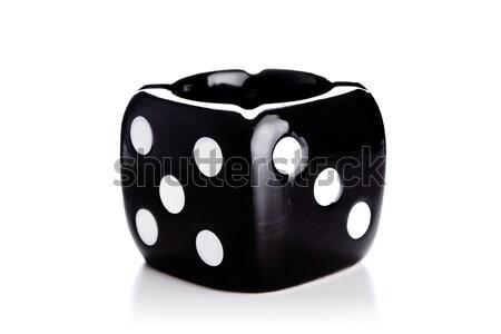 Ceniza bandeja dados negro blanco Foto stock © kokimk