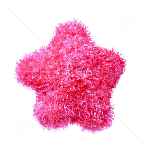Travesseiro estrela rosa isolado branco Foto stock © kokimk