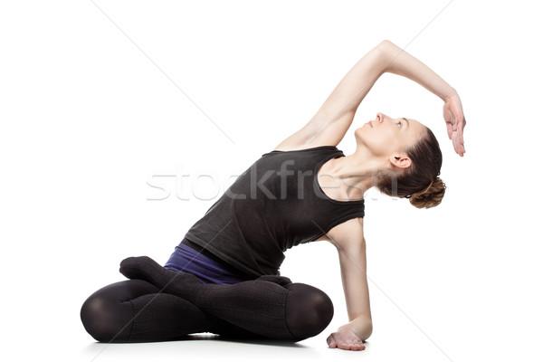 Donna pilates isolato studio Foto d'archivio © kokimk