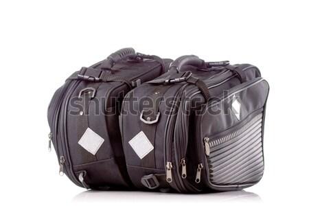 Motosiklet çanta siyah yan yalıtılmış Stok fotoğraf © kokimk