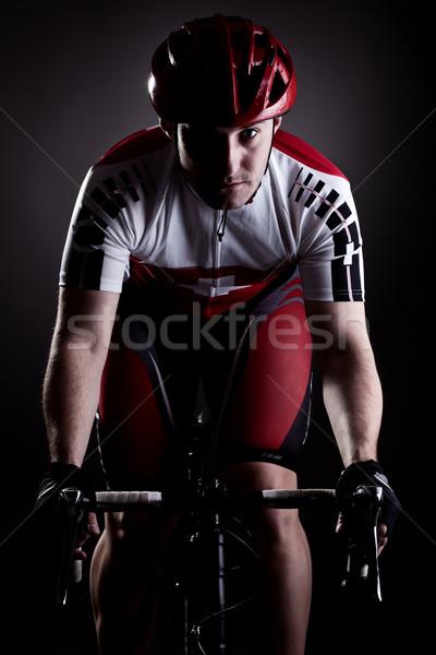 cyclist on a bicycle Stock photo © kokimk