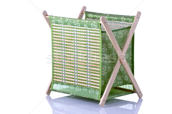 Yeşil kutu tekstil bambu ahşap renk Stok fotoğraf © kokimk