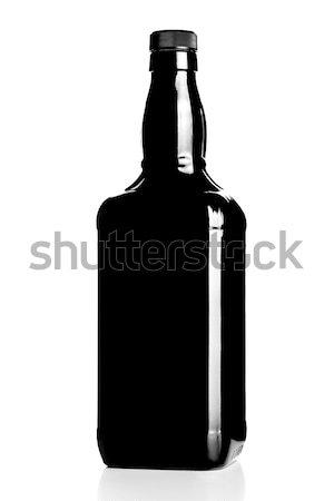 Alkol şişe siluet geri ışık dizayn Stok fotoğraf © kokimk
