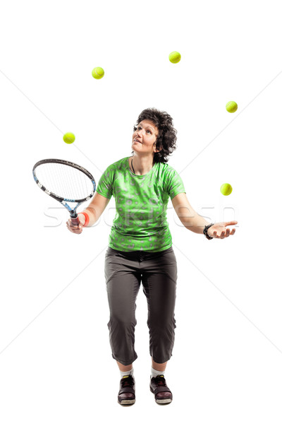 Tennis juggler  Stock photo © kokimk