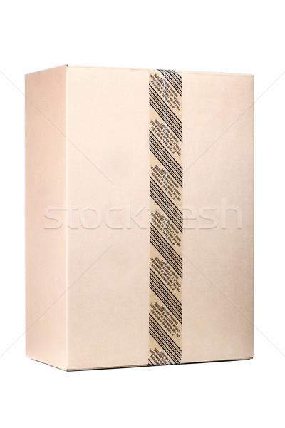 Karton klasik yalıtılmış beyaz kâğıt stüdyo Stok fotoğraf © kokimk