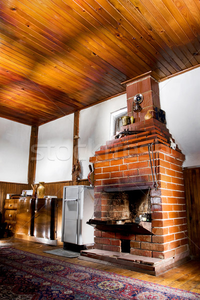 room with a chimney Stock photo © kokimk