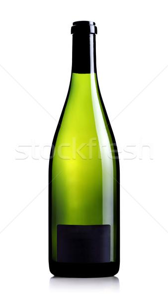 Pusty etykiety odizolowany biały wina Zdjęcia stock © kokimk