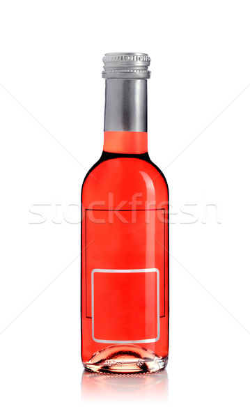 Vinho tinto garrafa vazio etiqueta isolado branco Foto stock © kokimk