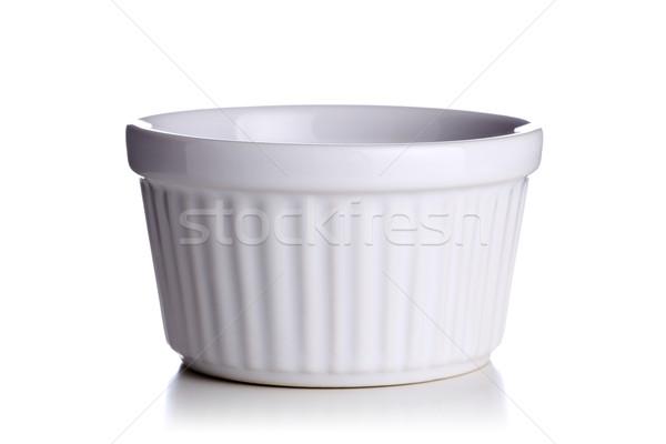 Seramik pot beyaz plaka konteyner Stok fotoğraf © kokimk
