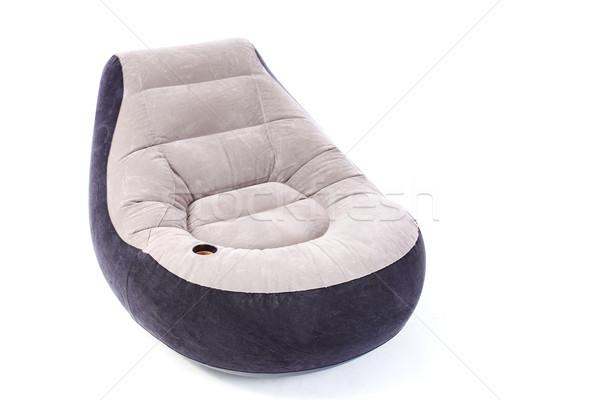 Inflável poltrona braço cadeira isolado branco Foto stock © kokimk