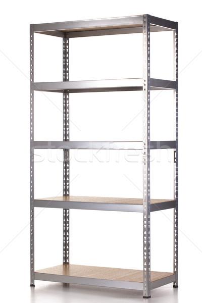 Estantería vacío galvanizado metal espacio Foto stock © kokimk