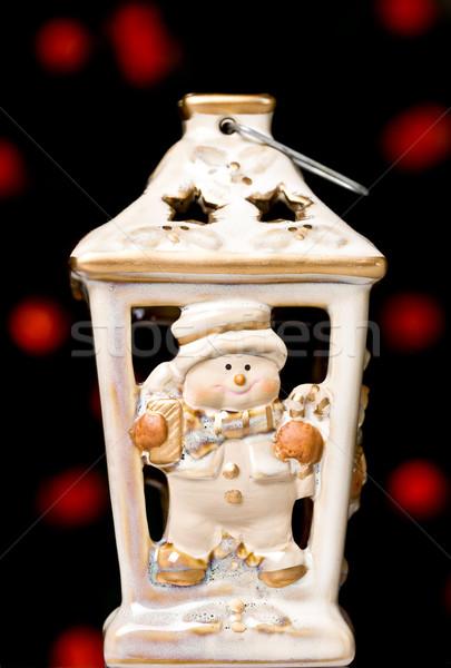 christmas candle holder Stock photo © kokimk