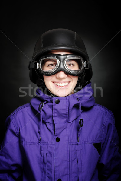 girl with helmet and goggles Stock photo © kokimk