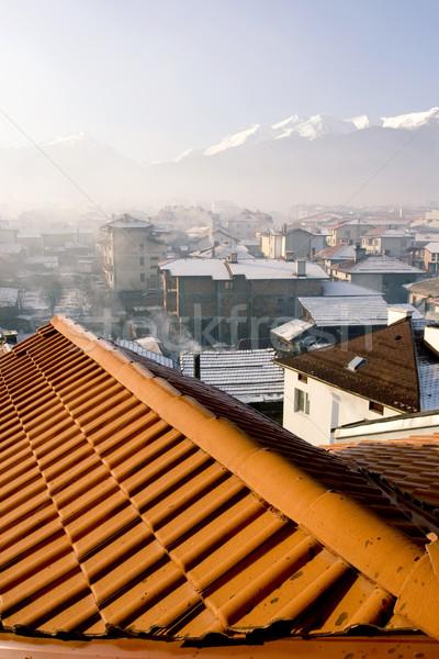 крыши Болгария лыжных центр здании домой Сток-фото © kokimk