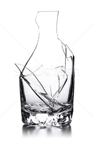 Kırık cam kırık boş cam yalıtılmış beyaz Stok fotoğraf © kokimk