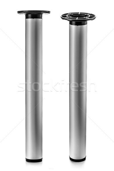 Mobilya bacak uzun Metal yalıtılmış beyaz Stok fotoğraf © kokimk