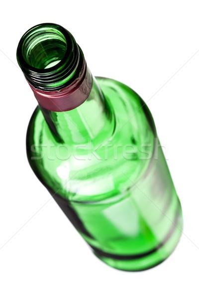 Vazio álcool garrafa isolado branco Foto stock © kokimk