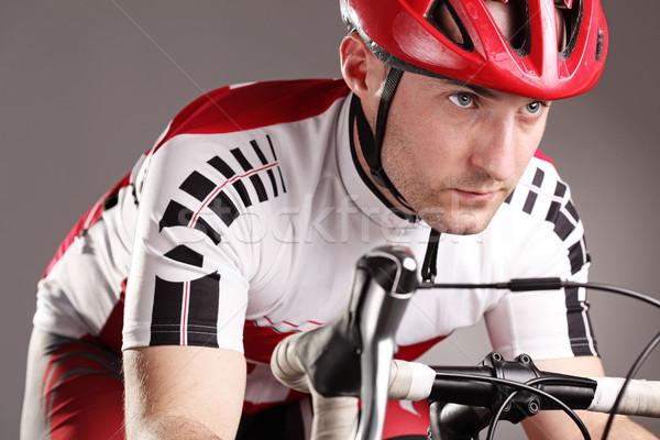 Ciclista bicicleta equitação esportes exercer treinamento Foto stock © kokimk
