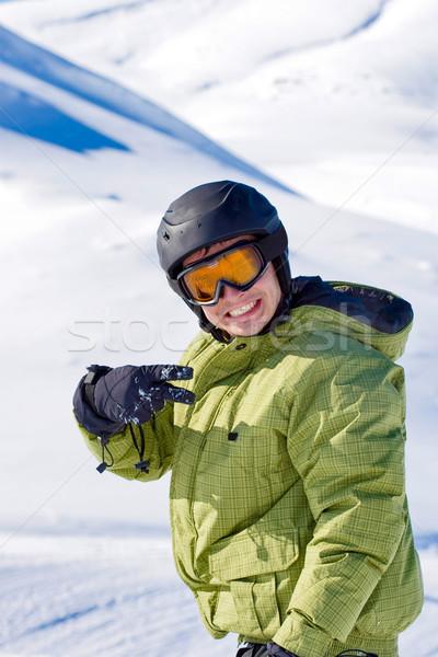 портрет мальчика сноуборд человека спорт Сток-фото © kokimk
