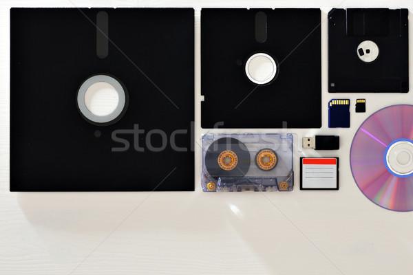 異なる ストア 情報 メモリ カード オフィス ストックフォト © koldunov