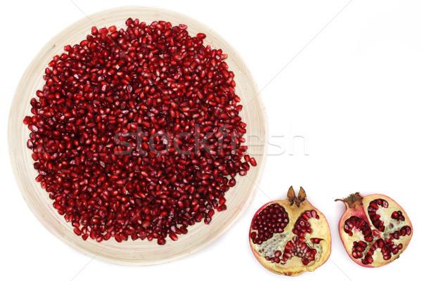フル プレート むいた ザクロ 種子 ビタミン ストックフォト © koldunov