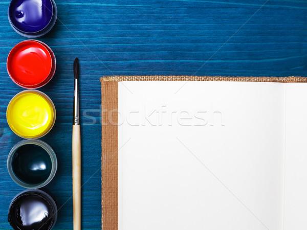 開発 想像力 ブラシ 塗料 絵画 ストックフォト © koldunov