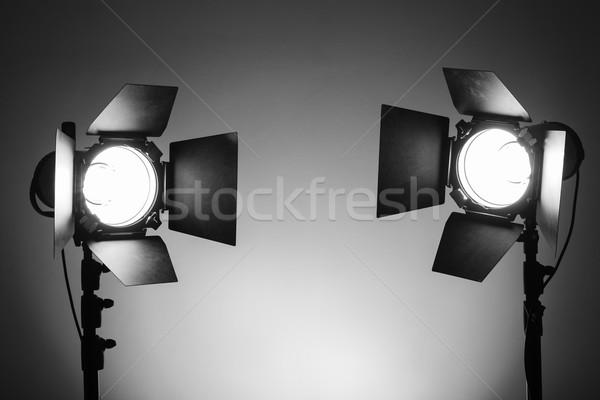 Empty photo studio with lighting equipment Stock photo © koldunov