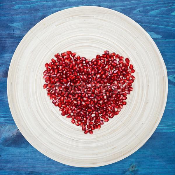 健康 おいしい 精進料理 むいた ザクロ 種子 ストックフォト © koldunov