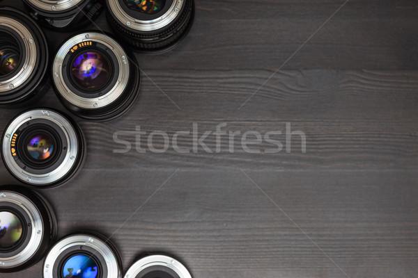 高価な 写真 レンズ カラフル 反射 木製 ストックフォト © koldunov