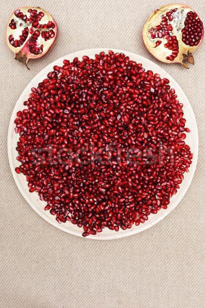 Vitaminok tél étel nyers tele tányér Stock fotó © koldunov