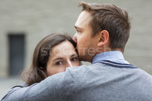 Young couple mourns because of parting Stock photo © koldunov