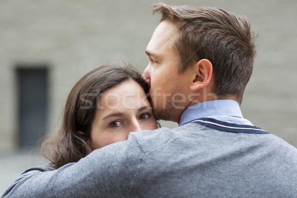 прощание любителей девушки глазах поцелуй Сток-фото © koldunov