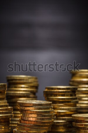 Russian currency iron modern coins on a black background Stock photo © koldunov