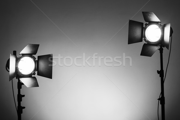 Vide photo studio matériel d'éclairage équipement mode Photo stock © koldunov