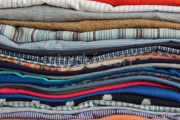 Her gün çalışmak ev katlanmış giyim Stok fotoğraf © koldunov