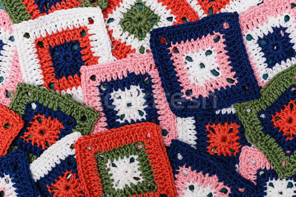Results favorite hobby: knitted squares to design handbags  Stock photo © koldunov