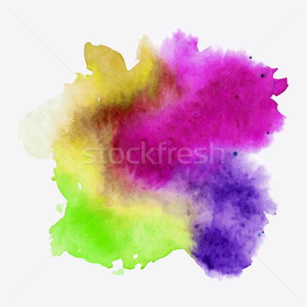 Abstract aquarel hand verf textuur geïsoleerd Stockfoto © kollibri