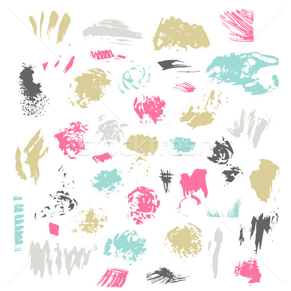 Cepillo aislado blanco vector dibujado a mano Foto stock © kollibri