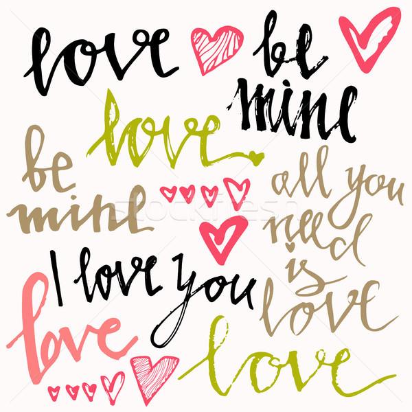 Mine amore tutti bisogno mano Foto d'archivio © kollibri