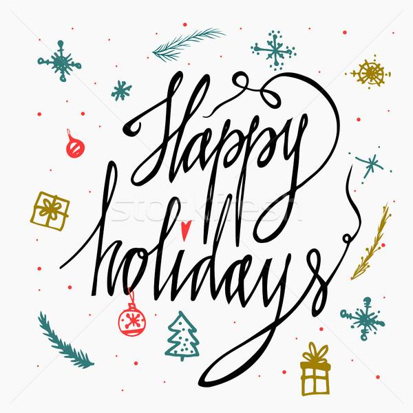 幸せ 休日 カード 孤立した 白 ストックフォト © kollibri
